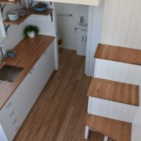 Graduate Series 6000DL Seaside Stairway to Kitchen and Loft