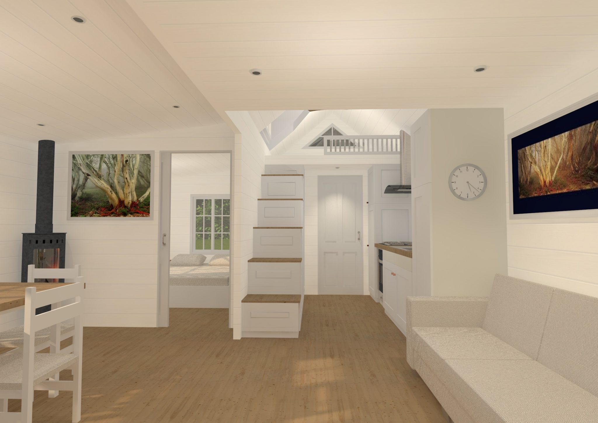 Granny Flat Series 60SMDL Interior View