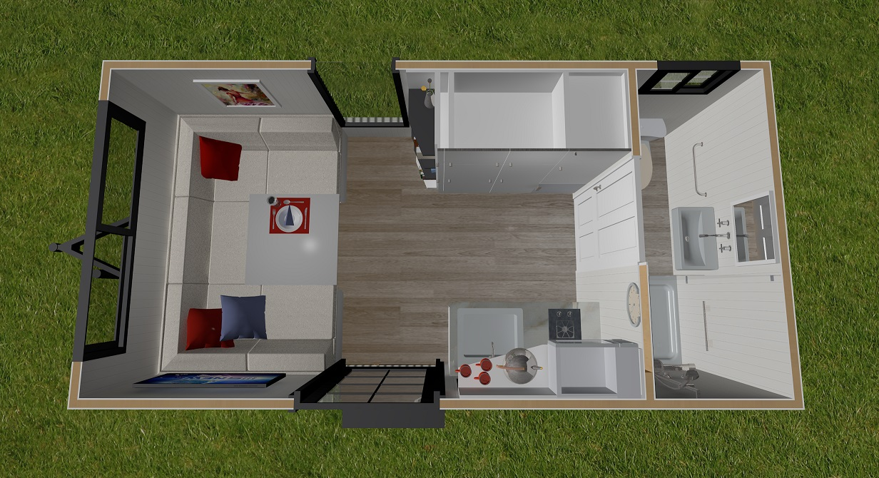 Independent Series 4800DL Tiny Home Ground Floor Plan