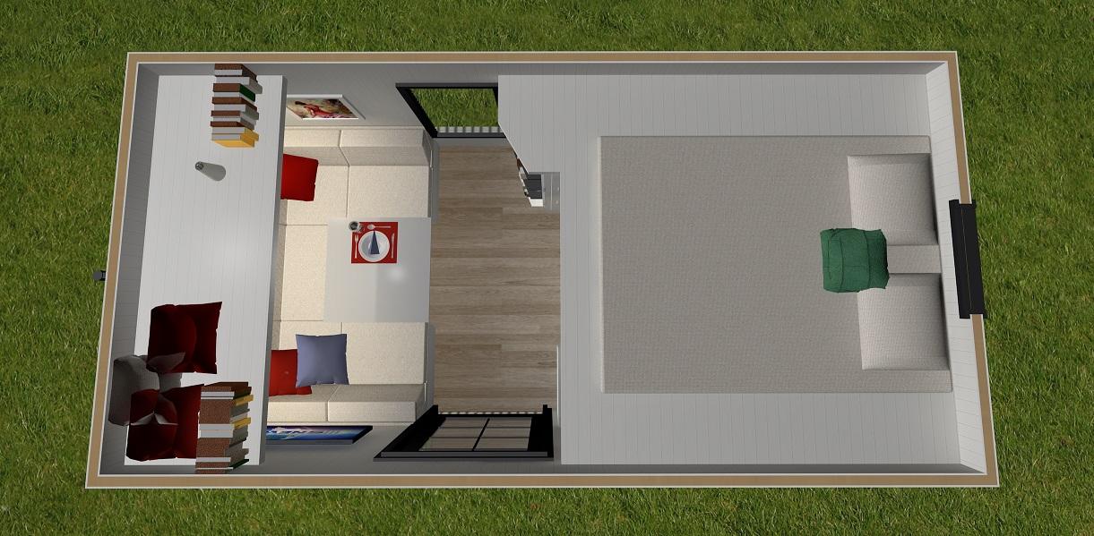 Independent Series 4800DL Tiny Home Loft Floor Plan