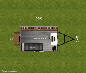 Studio Series 3600 Tiny House Floor Plan