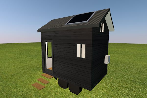 Studio Series 3600 Tiny Home with loft rear