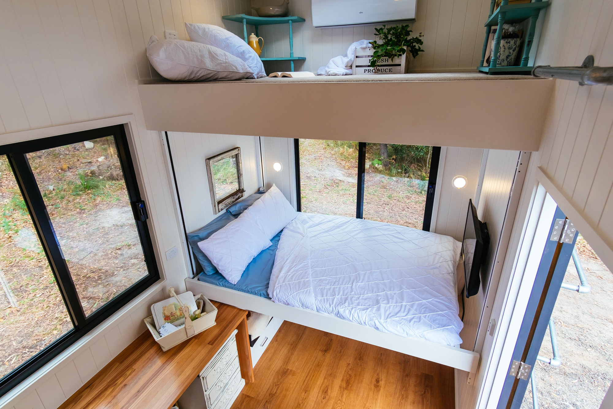 Eco Tiny Home Bed Lift (down)